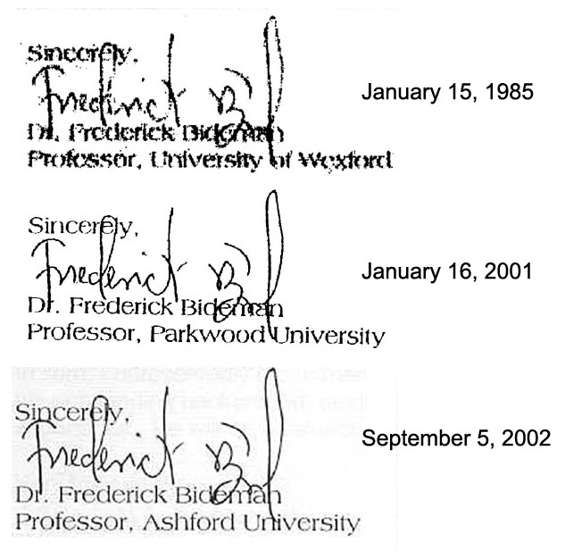 Information about some degree granting institutions not accredited it is interesting to compare the details of the signatures spiritdancerdesigns Images